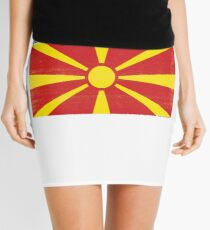 Macedonian Distressed Flag Soccer Team Mini Skirt