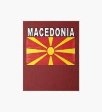 Macedonian Distressed Flag Soccer Team Art Board