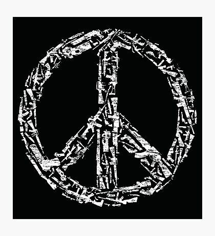 Weapon Peace black Photographic Print