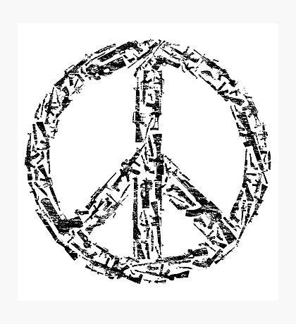 Weapon Peace white Photographic Print