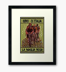 GIRO d ITALIA: Vintage Cycle Racing Advertising Print Framed Print