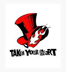 "Phantom Thief logo ""Take Your Heart"" Photographic Print"