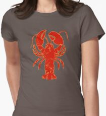 Maine Lobster Womens Fitted T-Shirt