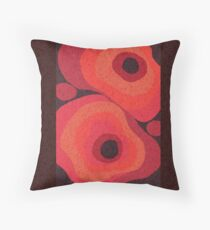 Danish Digital Flower Rug Throw Pillow