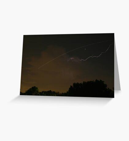 Cloud-To-Air Lightning Greeting Card