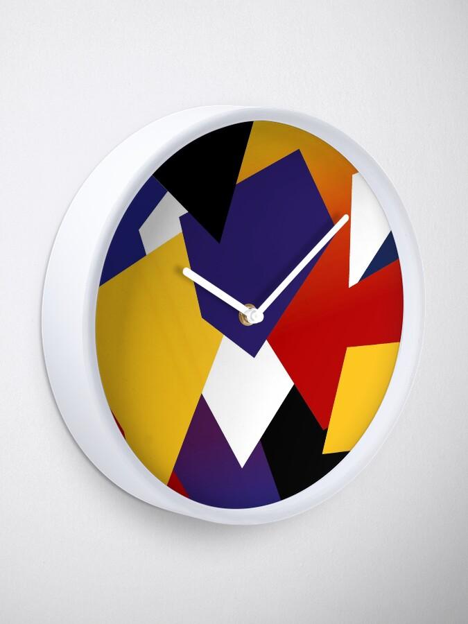Alternative Ansicht von Yellow violet explosion Uhr