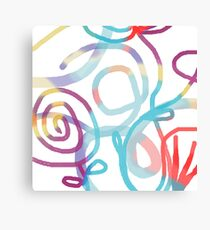 Playful loops Canvas Print