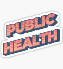 Public Health Retro Sticker