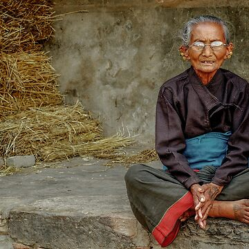 An Old Woman in Bhaktapur by bareri