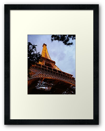 The Eiffel Tower at Dusk by Kim Doyle