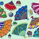 Colorful Fans by hennabyhilary