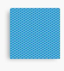 Mermaid Scales (Blue) Canvas Print
