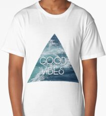 Summer Good Vibes Hippie Beach Print Long T-Shirt