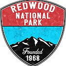 REDWOOD NATIONAL PARK CALIFORNIA REDWOODS MOUNTAINS HIKE HIKING CAMP CAMPING by MyHandmadeSigns