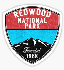 REDWOOD NATIONAL PARK CALIFORNIA REDWOODS MOUNTAINS HIKE HIKING CAMP CAMPING Sticker