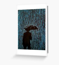 Caught In The Rain #2 Greeting Card
