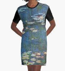 Water Lilies by Monet Graphic T-Shirt Dress