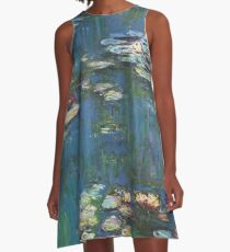 Water Lilies by Monet A-Line Dress