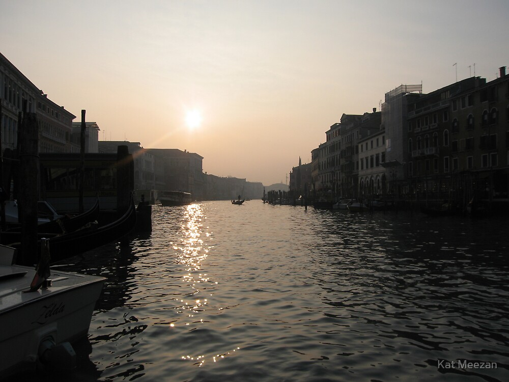 Grand Canal Sunset by Kat Meezan