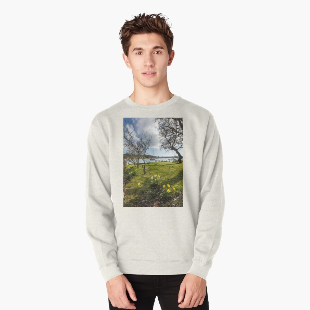 Spring At The Creek Pullover Sweatshirt