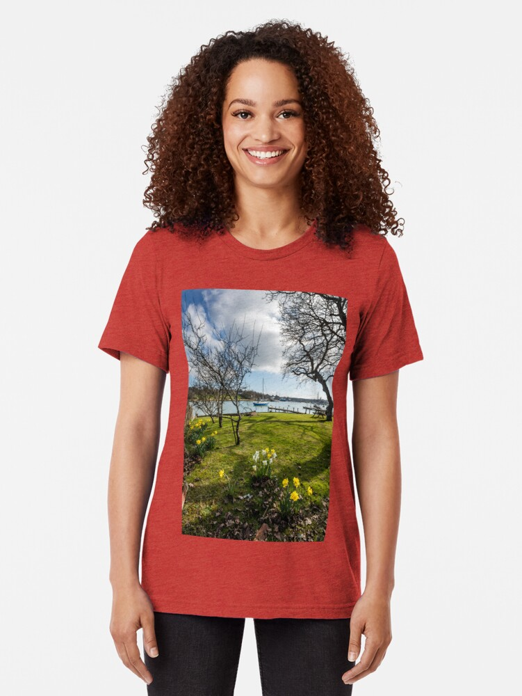 Alternate view of Spring At The Creek Tri-blend T-Shirt