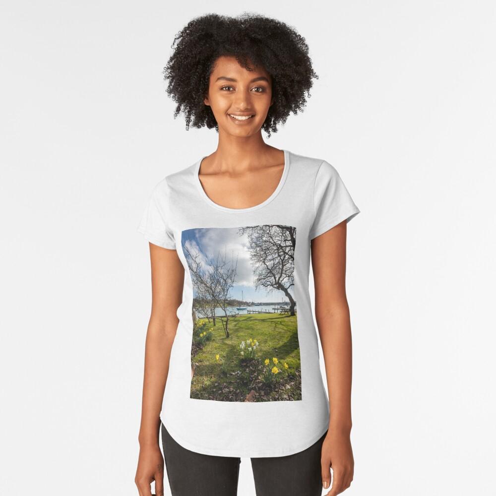 Spring At The Creek Premium Scoop T-Shirt