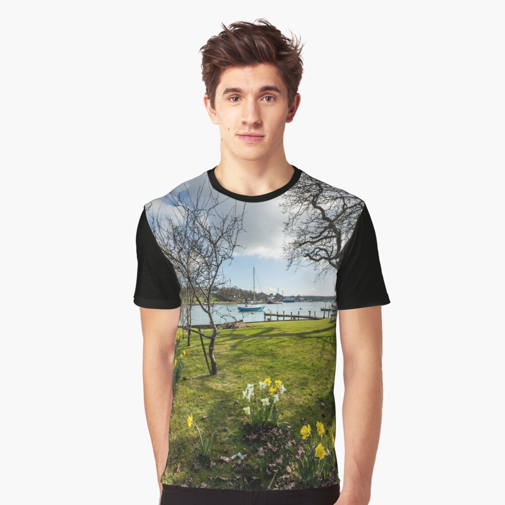 Spring At The Creek Graphic T-Shirt