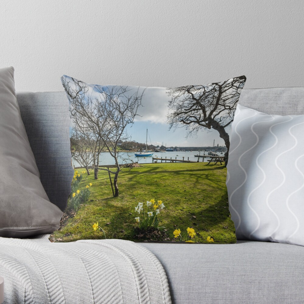 Spring At The Creek Throw Pillow