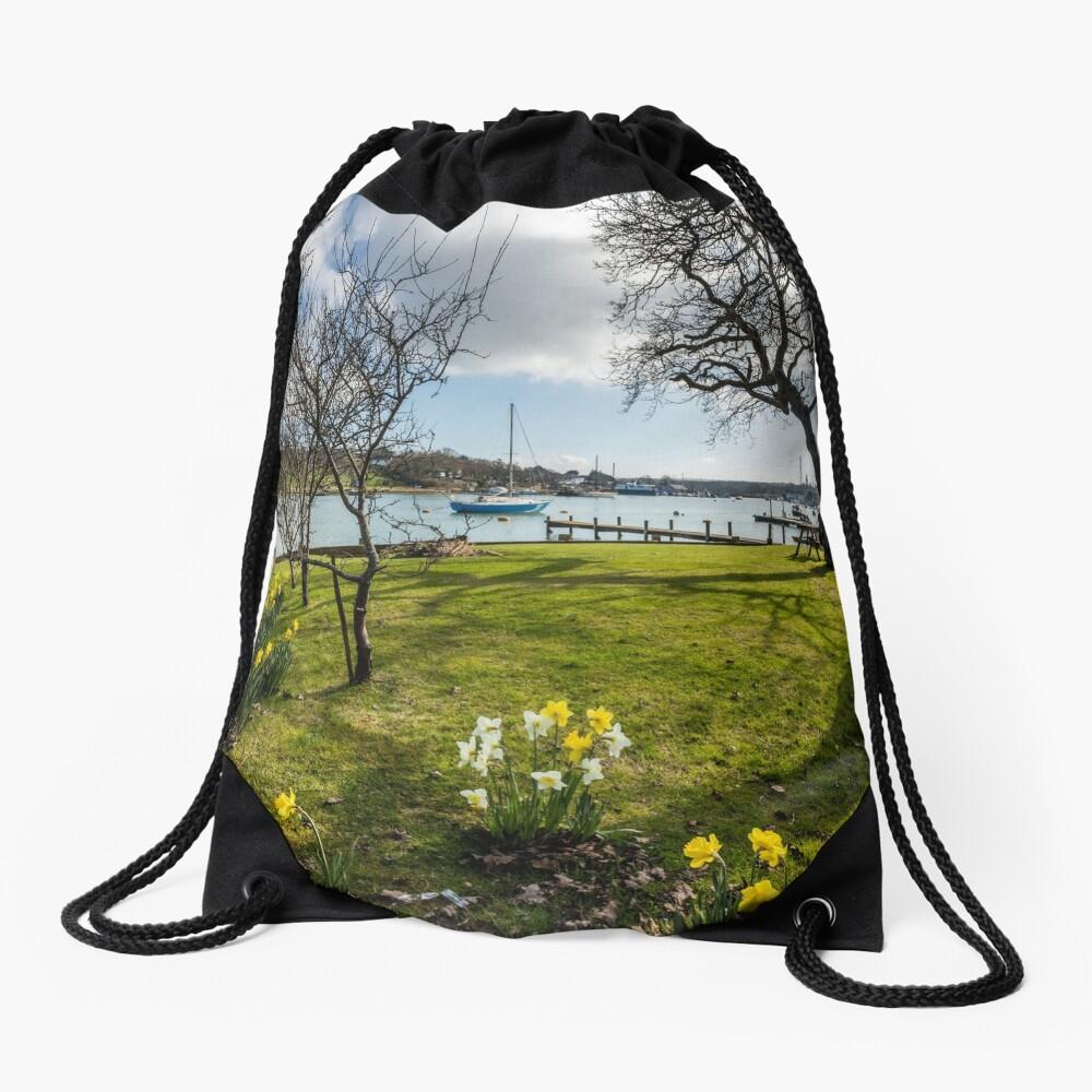 Spring At The Creek Drawstring Bag