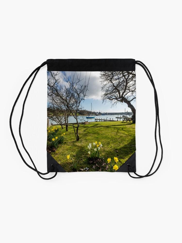 Alternate view of Spring At The Creek Drawstring Bag