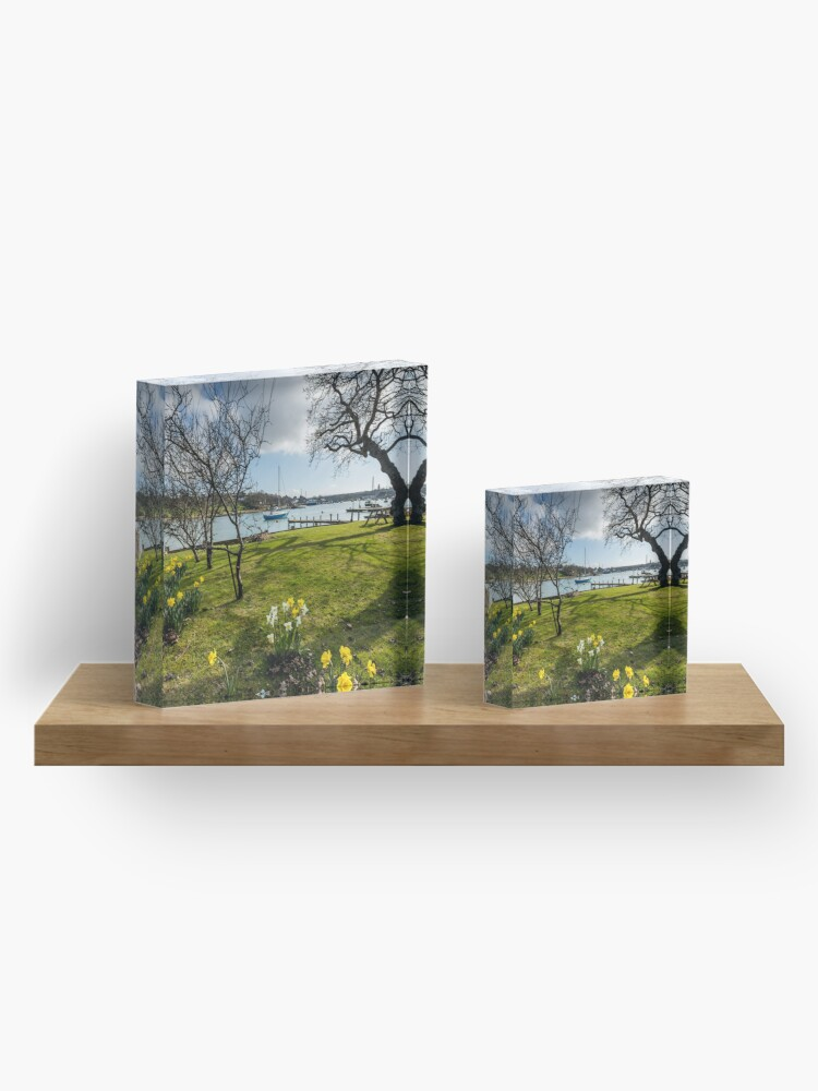 Alternate view of Spring At The Creek Acrylic Block