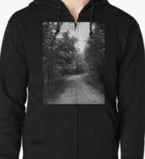 Along a Dark and Lonely Path Zipped Hoodie