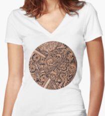 Luna Skulls Women's Fitted V-Neck T-Shirt