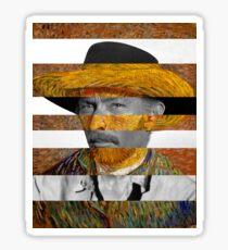 Van Gogh's Self Portrait & Lee Van Cleef Sticker