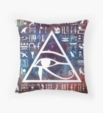 Horus eye Galaxy Throw Pillow