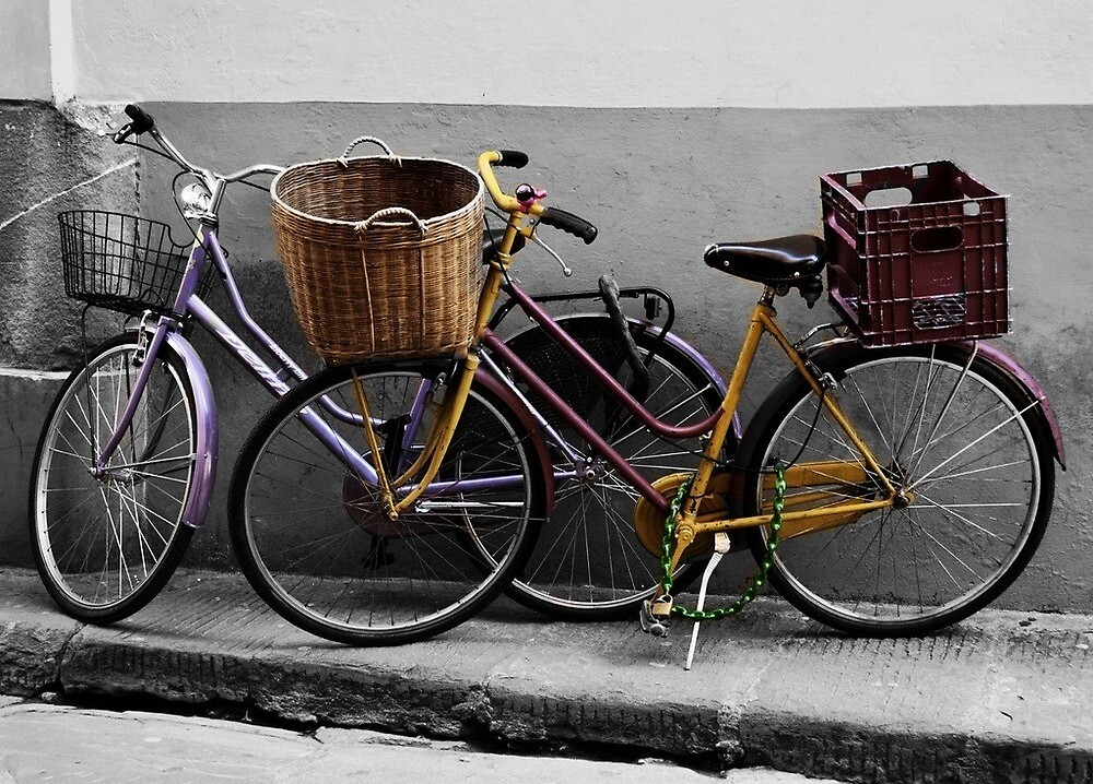 Bikes in Rome by Maddy Pothier