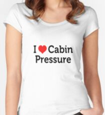 I Love Cabin Pressure Women's Fitted Scoop T-Shirt