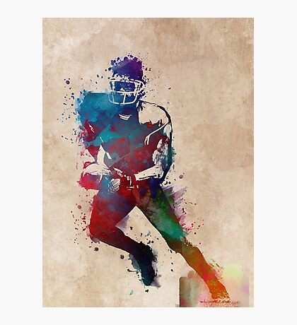 American football player 1 #sport #football Photographic Print