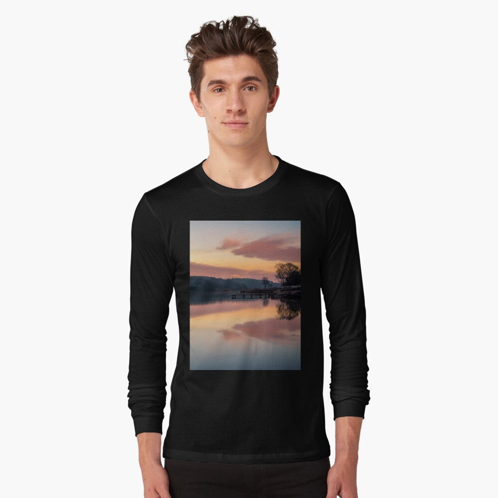 Dawn At The Old Millpond Long Sleeve T-Shirt