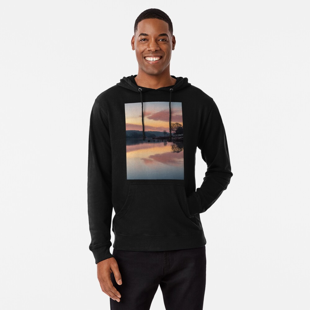 Dawn At The Old Millpond Lightweight Hoodie