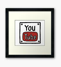 YouTube Box Title Framed Print