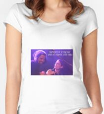 Nathan West and Chyler Leigh Women's Fitted Scoop T-Shirt