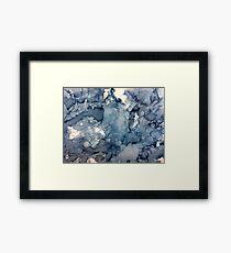 Ink in blues! Framed Print