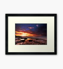 Sunset at Moonta Bay Framed Print