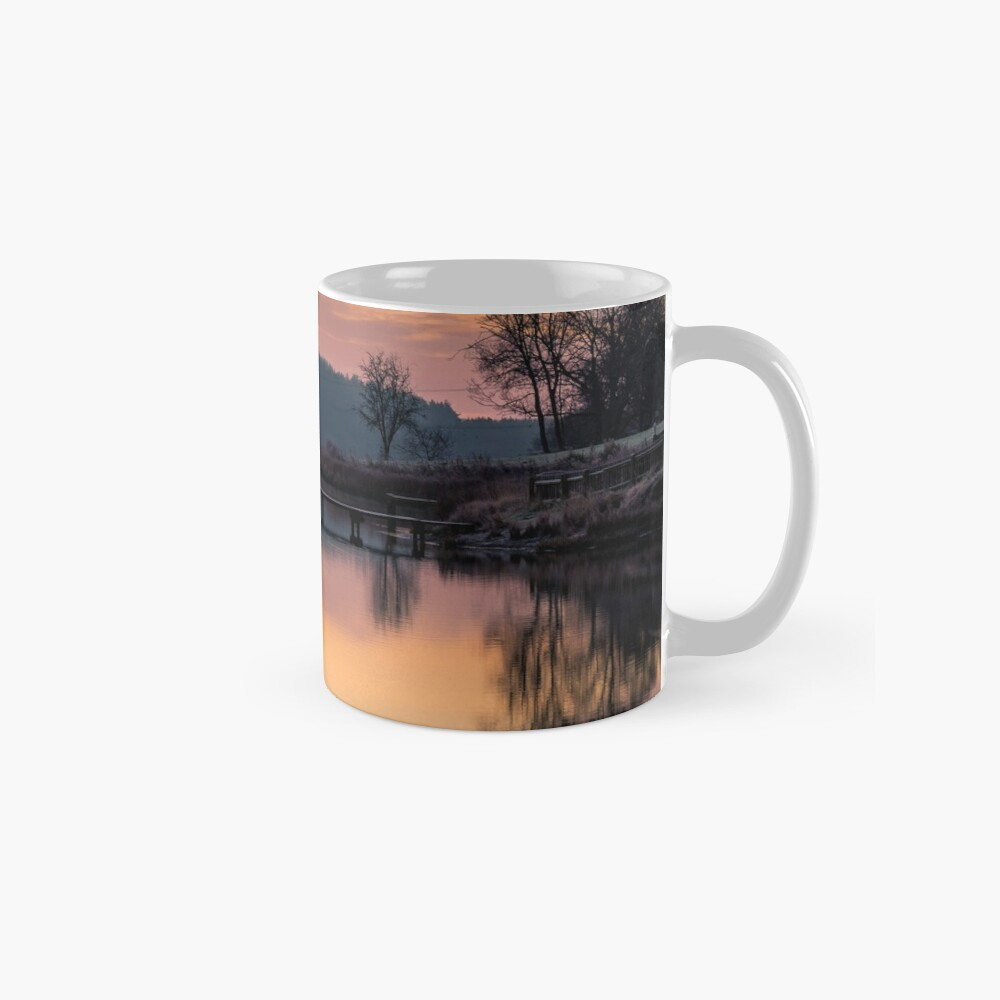 Dawn At The Old Millpond Mugs