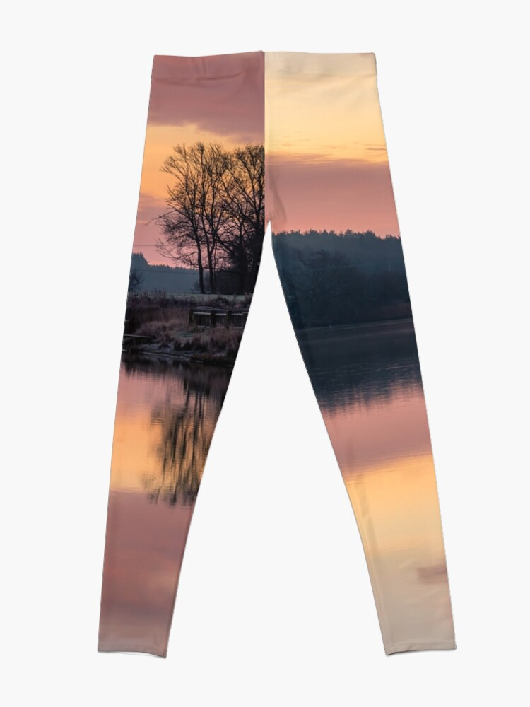 Alternate view of Dawn At The Old Millpond Leggings