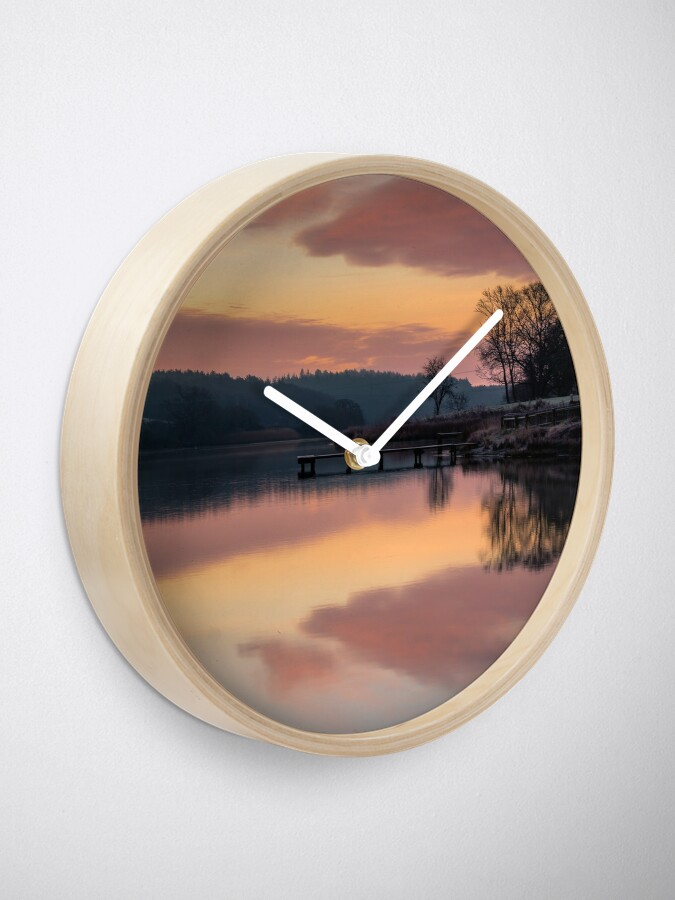 Alternate view of Dawn At The Old Millpond Clock