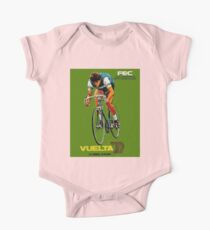 VUELTA SPAIN: Vintage Bike Racing Advertising Print One Piece - Short Sleeve