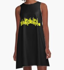 Rebel street art graffiti style design for outlaws or rebels A-Line Dress