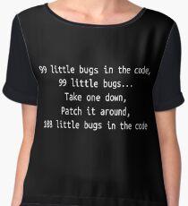 99 little bugs - Software development humour / humor Chiffon Top